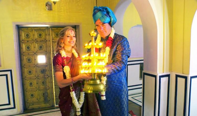 candles lit ceremony